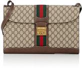 Gucci Men's GG Supreme-Print Portfolio Messenger Bag-TAN