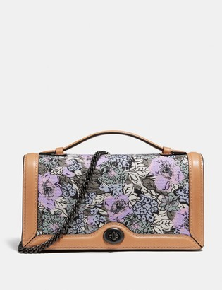 Coach Riley Chain Clutch With Heritage Floral Print
