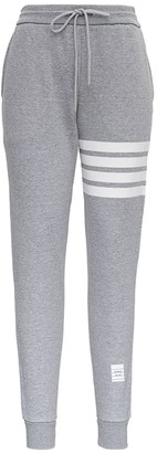 Thom Browne Gray Jersey Jogger With 4bar Detail
