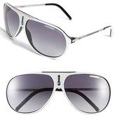 Carrera Men's Eyewear 'Hots' 64Mm Aviator Sunglasses - Crystal/ Silver Mirror