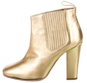 Marc by Marc Jacobs Metallic Leather Ankle Boots