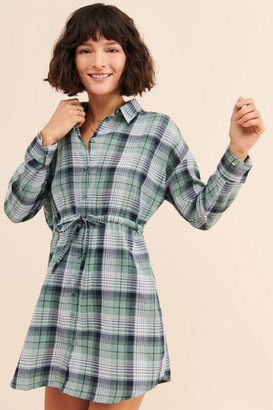 Daisy Street Plaid Shirt Dress