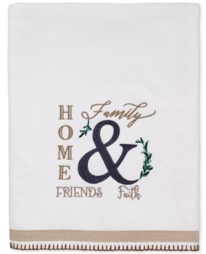 Avanti Modern Farmhouse Cotton Embroidered Bath Towel Bedding