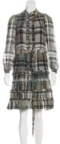 Paul & Joe Plaid Knee-Length Dress