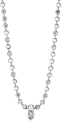 Emanuele Bicocchi Sterling Silver Ball Chain Spike Pendant Necklace