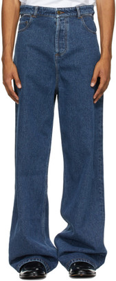 Y/Project Blue Classic Peep Show Jeans
