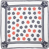 Kenzo Tigers Printed Cotton & Silk Satin Scarf