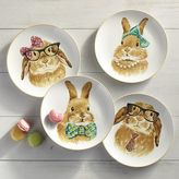 Pier 1 Imports Easter Bunny Faces Salad Plate Set