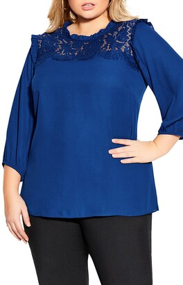 City Chic Lace Angel Top