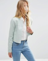 Asos Crop Blazer in Linen