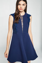 BCBGeneration Sleeveless Lace Insert Dress