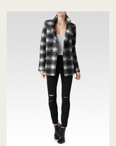 Paige Leona Coat - Black & White Plaid