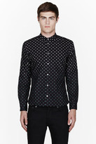 Paul Smith Navy ombre polka dot shirt