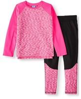 Rainbeau Curves Rainbeau Space-Dye Long Sleeve & Fleece Performance Leggings 2-Piece Active Set (Big Girls & Little Girls)