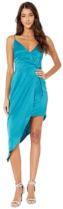 BCBGeneration Asymmetrical Side Tie Dress TLC6245022 (Marine Blue) Women's Dress