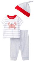 Offspring Crab Tee, Pant, & Hat Set (Baby Boys 3-9M)