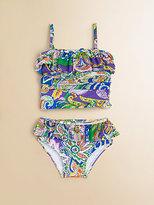 Ralph Lauren Infant's Ruffled Paisley Two-Piece Tankini Swimsuit Set