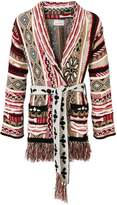 Laneus fringed knit cardigan