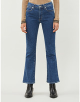 Crystal flared high-rise jeans
