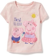 "Old Navy Nick Jr. Peppa Pig ""Best Big Sister"" Tee for Toddler Girls"
