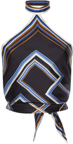 Martin Grant Knotted Halter Scarf Top
