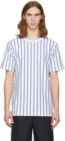 Rag & Bone White Disrupted Stripe T-shirt