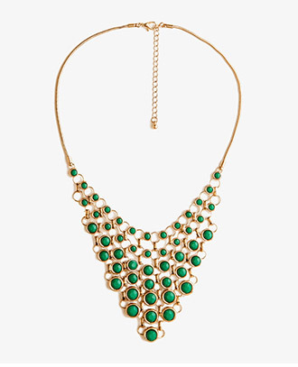 Forever 21 Pointed Bib Necklace