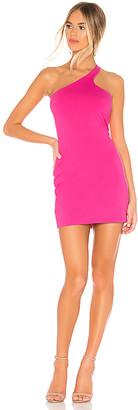 Susana Monaco Curved One Shoulder Dress