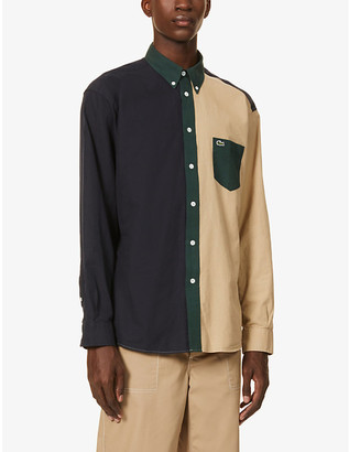 Lacoste Colour block relaxed-fit cotton shirt
