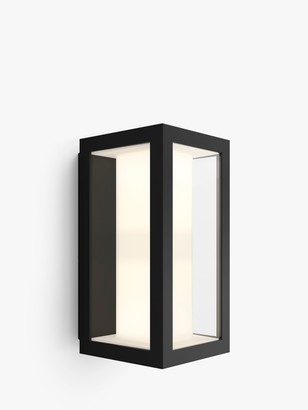 Philips Hue White and Colour Ambiance Impress LED Slim Outdoor Wall Light, Black