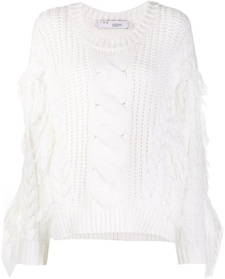 IRO Fringed Cable-Knit Sweater