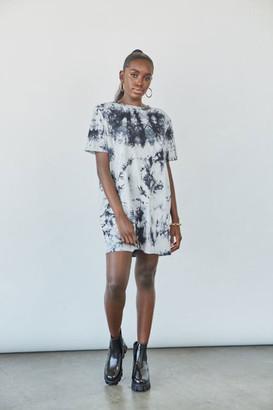 Forever 21 Tie-Dye Shoulder Pad T-Shirt Dress