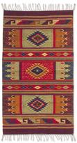 Novica Mexican Hand-crafted 'Prairie Stars' Zapotec Wool Rug (2'6 x 5')