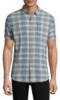 John Varvatos Heathered Short Sleeve Shirt