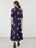 Joules Carla Long Sleeve Button Front Shirt Dress - Navy