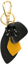 Marni strass leather keyring