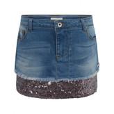 GUESS GuessBlue Denim Sequin Trim Skirt