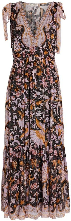 Ulla Johnson Annalise Floral Silk Maxi Dress