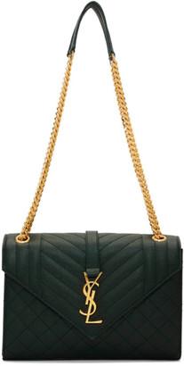 Saint Laurent Green Medium Envelope Bag