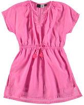 Molo Caly Short-Sleeve Drawstring Dress, Size 2T-12