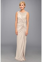 Adrianna Papell Lace Jersey Gown (Champagne) - Apparel