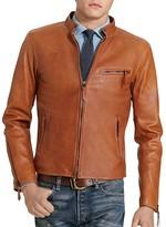 Polo Ralph Lauren Lambskin Leather Café Racer Jacket