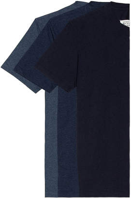 Maison Margiela Pack Cotton Jersey in Light-Medium-Dark Indigo | FWRD