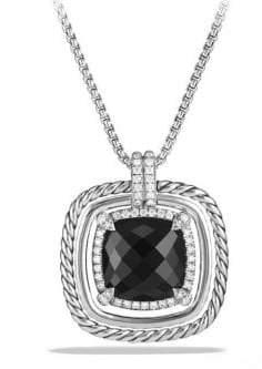 David Yurman Chatelaine Pave Bezel Necklace with Gemstone and Diamonds