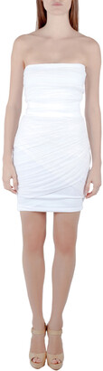 Preen by Thornton Bregazzi Collection Off White Ruched Strapless Dream Dress XS