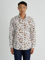 Frank and Oak Bamboo-Print Poplin-Cotton Shirt in White