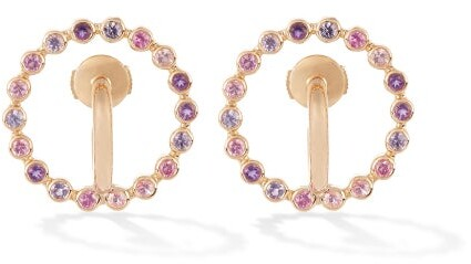 Charlotte Chesnais Fine Jewellery - Saturn Small Sapphire, Amethyst & Gold Earrings - Womens - Yellow Gold