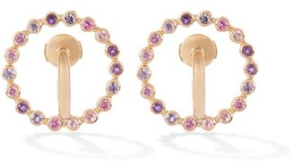 Charlotte Chesnais Fine Jewellery - Saturn Small Sapphire & 18kt Gold Earrings - Yellow Gold