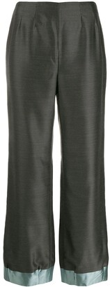 Giorgio Armani Pre-Owned 1990's Loose Bootcut Trousers