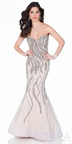 Terani Couture Dazzling Spider Web Evening Gown